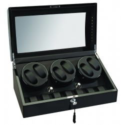 Diplomat Phantom Black Wood Six Watch Winder 34-513