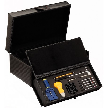Diplomat Carbon Fiber Tool Kit Ten Watch Travel Case 31-46501