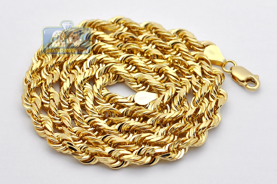 cuban mens chains chain yellow img necklace mm ebay inches itm curb link solid gold