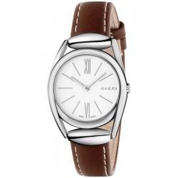 Gucci Horsebit 30 mm Brown Leather Womens Watch YA140502
