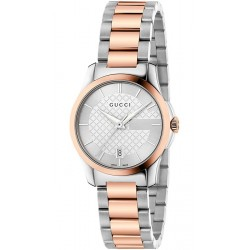 Gucci G-Timeless 27 mm Two Tone Bracelet Womens Watch YA126528