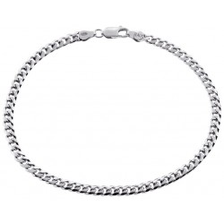 Solid Sterling Silver Miami Cuban Link Mens Bracelet 4mm 9""