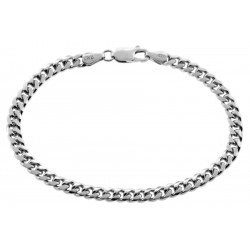 Solid Sterling Silver Miami Cuban Link Mens Bracelet 5mm 8.25""