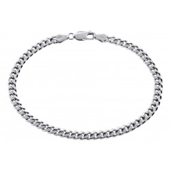 Solid Sterling Silver Mens Miami Cuban Link Bracelet 5mm 9.25""