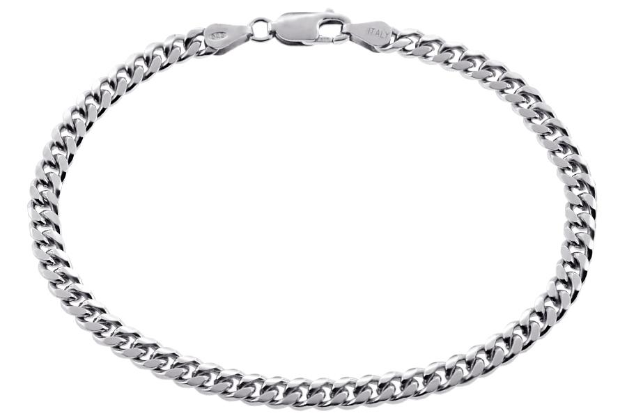 640e8399ca8f2 Sterling Silver Miami Cuban Link Mens Bracelet 5 mm 9 1/4 inches