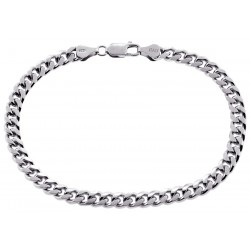 Solid Sterling Silver Miami Cuban Link Mens Bracelet 6 mm 9.25""