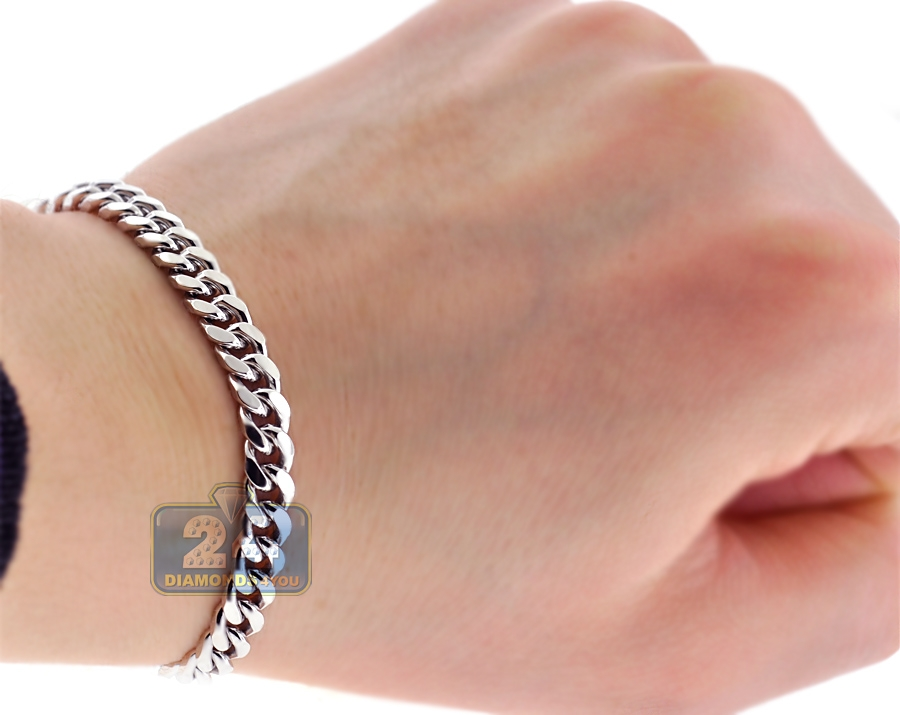 925 Sterling silver 8 mm Cuban Link Ring Band uaUNP