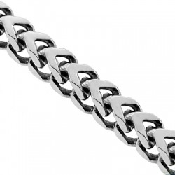 Solid 925 Sterling Silver Franco Link Mens Chain 4 mm
