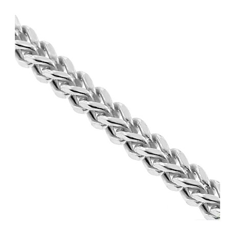 Sterling Silver Hollow Franco Mens Chain 7 mm 24 28 30 inch