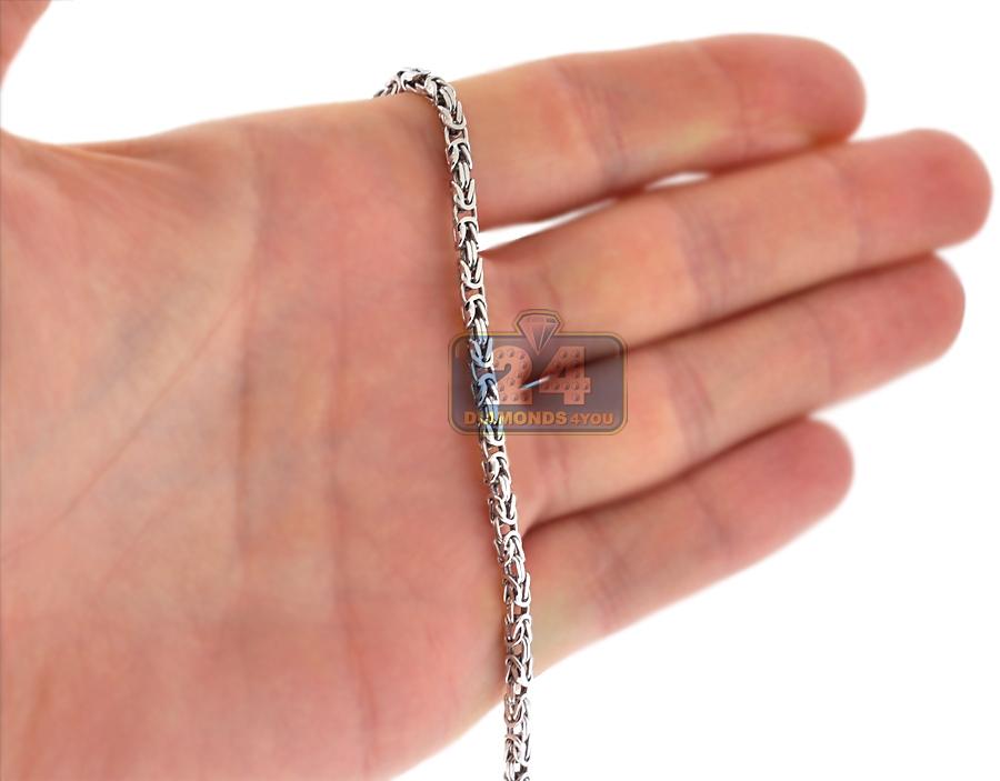 Sterling Silver Byzantine Mens Chain 2 5 Mm 20 24 26 30 36