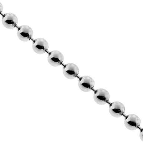 Sterling Silver Army Ball Mens Womens Chain 1.5 mm 16 18 20 inch