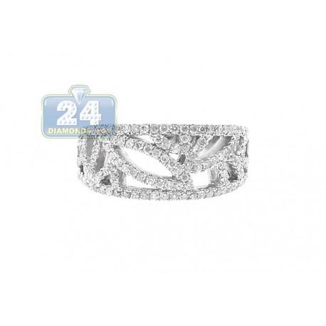 14K White Gold 0.66 ct Diamond Womens Band Ring