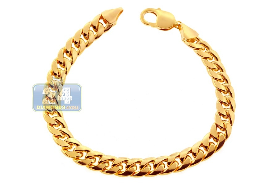 yellow jcpenney bracelet hollow p gold chain milano