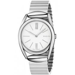 Gucci Horsebit 34 mm Steel Bracelet Womens Watch YA140405