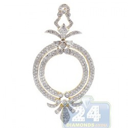 14K Yellow Gold 2.85 ct Diamond Womens Royal Pendant