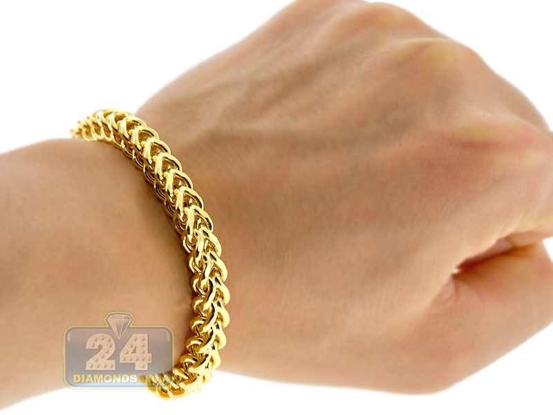 bracelet watches gold chain link jewelry yellow hollow franco product free