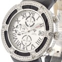 Aqua Master El Russo 5.35 ct Diamond Mens White Dial Watch