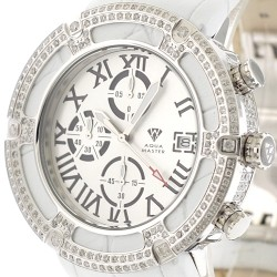 Aqua Master El Russo 5.35 ct Diamond Mens White Watch