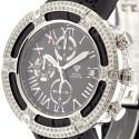 Aqua Master El Russo 5.35 ct Diamond Black Rubber Watch