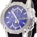 Aqua Master Nicky Jam 5.00 ct Diamond Mens Blue Watch