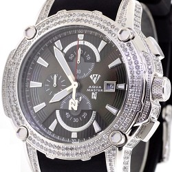 f85b36c6c7a7 Mens Diamond Black Dial Watch Aqua Master Nicky Jam 5.00 ct