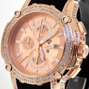 Aqua Master Nicky Jam 5.00 ct Diamond Mens Rose Watch