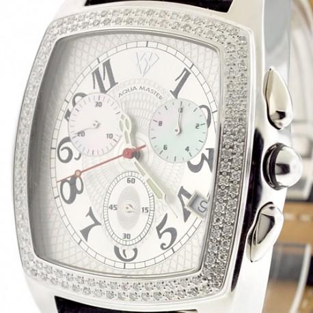 Mens Diamond Watch Aqua Master Classic 1.50 ct Silver Dial