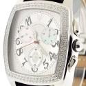 Aqua Master Classic 1.50 ct Diamond Mens Silver Watch
