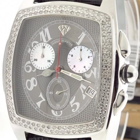 Mens Diamond Watch Aqua Master Classic 1.50 ct Gray Dial