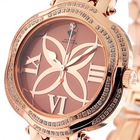 Aqua Master Flower 0.85 ct Diamond Womens Rose Watch