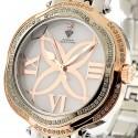 Aqua Master Flower 0.85 ct Diamond Womens Rose Gold Tone Watch
