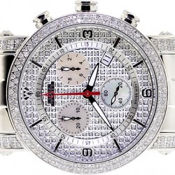 Womens Diamond Watch Aqua Master Round 1.75 ct Pave Dial