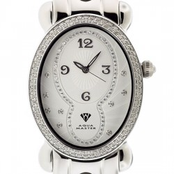 Aqua Master Oval 1.00 ct Diamond Womens Steel Watch