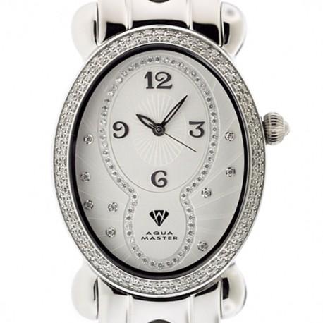 Aqua Master Oval 1.00 ct Diamond Womens Steel Watch