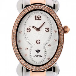 Aqua Master Oval 1.00 ct Diamond Womens Two Tone Watch