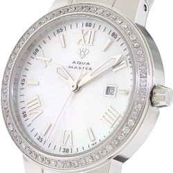 Aqua Master Round 0.70 ct Diamond Womens Silver Watch