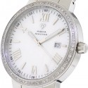 Aqua Master Round 1.30 ct Diamond Mens Silver Watch