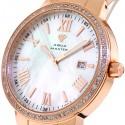 Aqua Master Round 1.30 ct Diamond Mens Rose Gold Watch