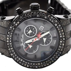 Mens Black Diamond Steel Watch Joe Rodeo Broadway JRBR15 6.60 ct