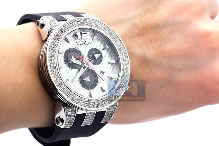 Mens Diamond Steel Watch Joe Rodeo Broadway JRBR1 5.00 Carats 3b812d18a
