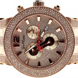 Mens Diamond Watch Joe Rodeo Broadway JRBR13 5.00 ct Rose Gold