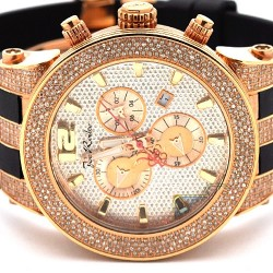 Mens Diamond Watch Joe Rodeo Broadway JRBR6 5.00 ct Rose Case