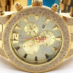 Mens Diamond Watch Joe Rodeo Broadway JRBR12 All Yellow Gold