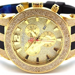 Mens Diamond Watch Joe Rodeo Broadway JRBR3 5.00 ct Yellow Dial