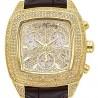 Womens Diamond Watch Joe Rodeo Chelsea JCHE1 5.00 ct Yellow Steel