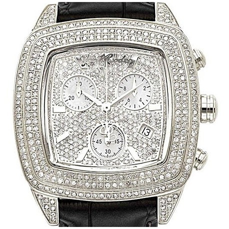Womens Diamond Watch Joe Rodeo Chelsea JCHE2 5.00 ct Black Leather