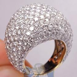 Womens Diamond All Way Dome Ring 14K Yellow Gold 12.84 Carat