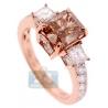 Womens GIA Fancy Brown Diamond Engagement Ring 18K Rose Gold