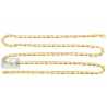 14K Yellow Gold Solid Tiger Eye Bar Link Mens Chain 4 mm