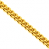 Yellow Sterling Silver Hollow Franco Mens Chain 7 mm 26 28 inch